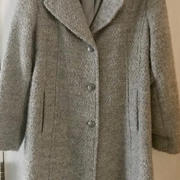 Anne Klein Jackets & Blazers - Grey 'Boucle' Coat
